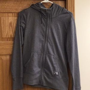 Under Armour gray hoodie. EUC